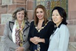 Pictured (l to r) is Petra Grashoff, DuPont, Plant Manager, Mayor of Derry and Strabane, Councillor Elisha McCallion and Rose Lee, Global Business Leader Kevlar®, DuPont, at the Guildhall