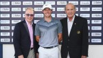 From L-R: Keith Pelley, CEO, European Tour; Rory McIlroy; Colm McLoughlin, Executive Vice Chairman, Dubai Duty Free