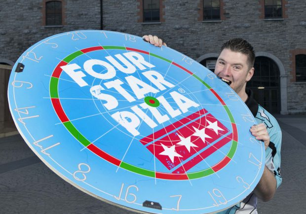FOUR STAR PIZZA HIT THE BULLSEYE WITH 'SUPERCHIN' SPONSORSHIP: It's 'magic darts' for leading pizza company Four Star Pizza who today announced a new sponsorship deal with professional darts player Daryl 'Superchin' Gurney. Daryl, who is currently ranked number five in the world, will take to the stage wearing his Four Star Pizza sponsored playing shirt for the first time at Thursday night's opening round of the 2018 Unibet Premier League Darts season at the 3Arena in Dublin. The 31-year-old thrower from Londonderry is set to make his debut in the competition in a meeting on the oche with five-time World Darts Champion, Raymond van Barneveld.