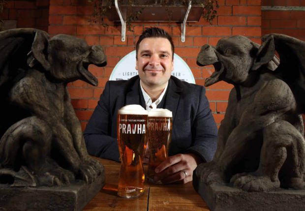 PRAVHA has czeched-in to NI: Molson Coors' NI Director Ryan McFarland enjoys a pint of Pravha, which is now available for the first time on draught at select outlets across Northern Ireland. The new beer, launched at The Perch in Belfast, is the latest addition to Molson Coors' on-trade portfolio in Northern Ireland and is a crisp, light and refreshing Czech style pilsner from the brewers of leading lager Staropramen.